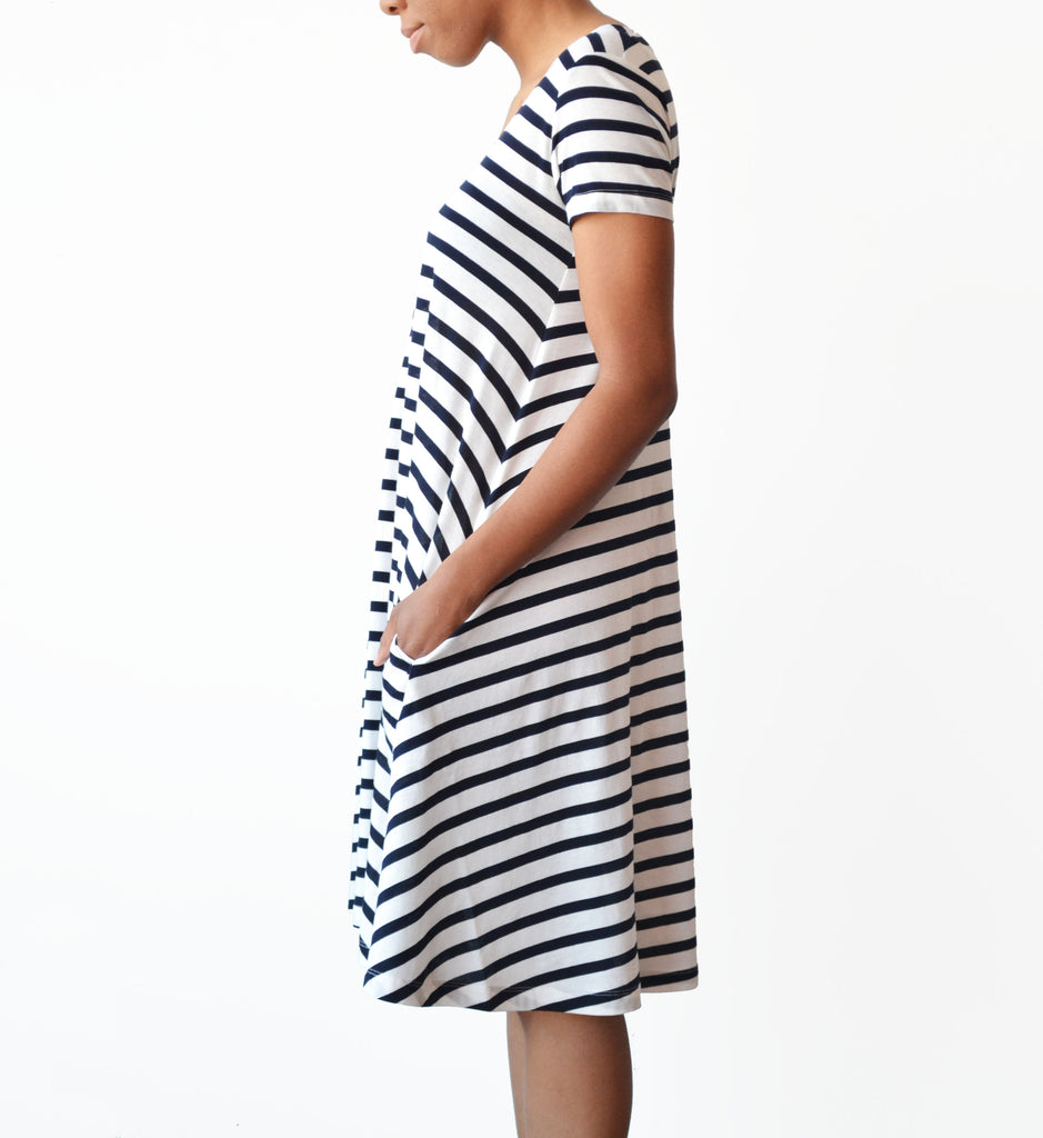 Demylee Navy Lori Swing Dress