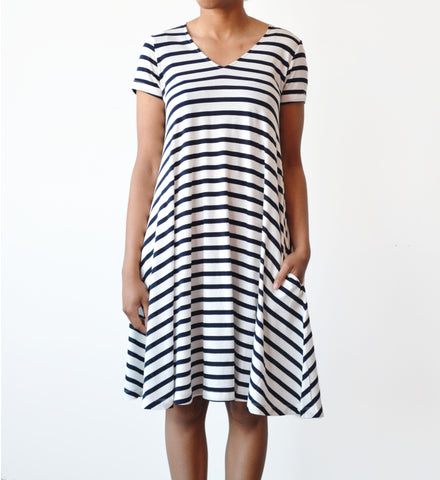 Demylee Patti Stripe Lori Swing Dress