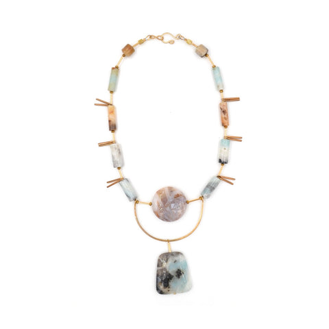 Earth Reverie Amazonite Stone Necklace - Myth & Symbol