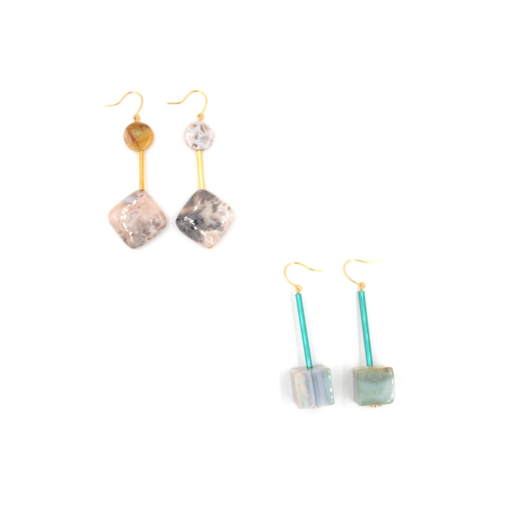 Earth Reverie Gold Medium Drop Earrings