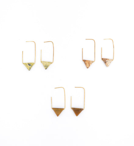 Earth Reverie Triangle Earrings
