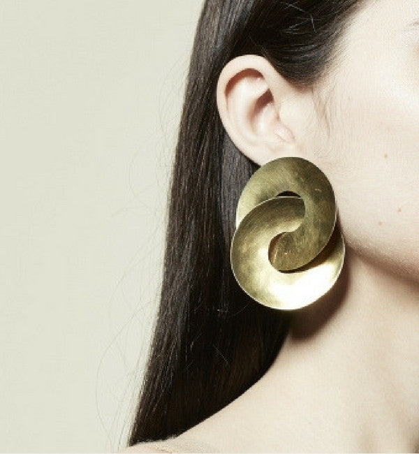Fay Andrada Brass Pari Earrings - Myth & Symbol - 2