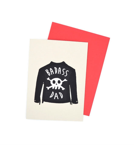 Gold Teeth Brooklyn Badass Dad Card - Myth & Symbol