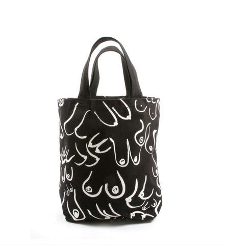 Gravel & Gold Black Boobs Tote - Myth & Symbol - 2