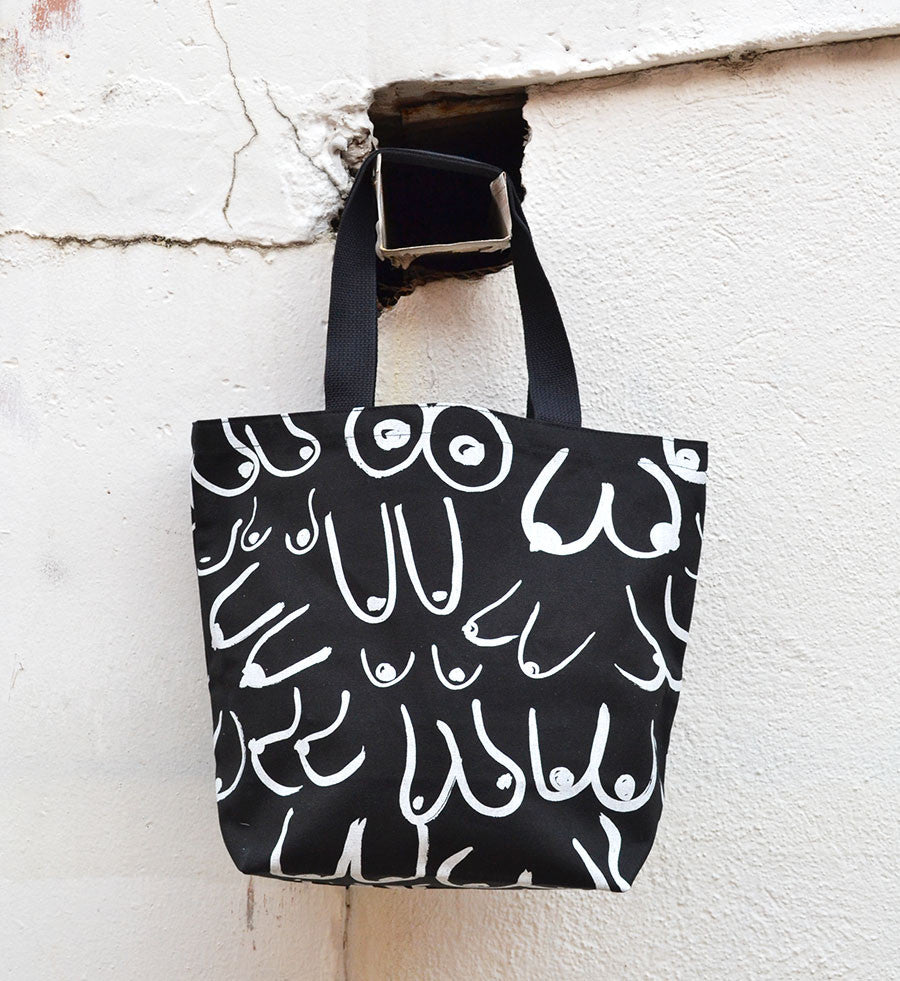 Gravel & Gold Black Boobs Tote - Myth & Symbol - 1