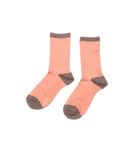 Hansel from Basel Colorback Coral Silk Crew Socks - Myth & Symbol - 1