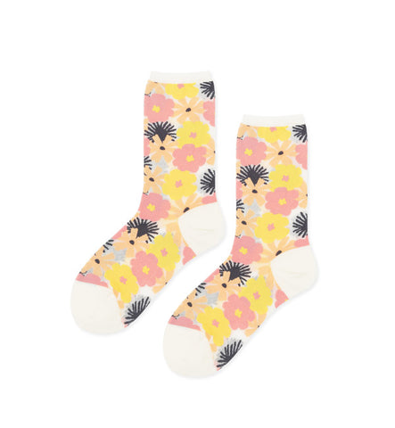 Hansel from Basel Ink Blossom Sheer Crew Socks - Myth & Symbol - 4