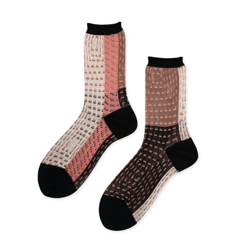 Hansel from Basel Quilt Nylon Crew Socks