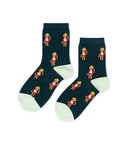 Hansel from Basel Scandinavian Girl Cotton Crew Socks - Myth & Symbol - 1