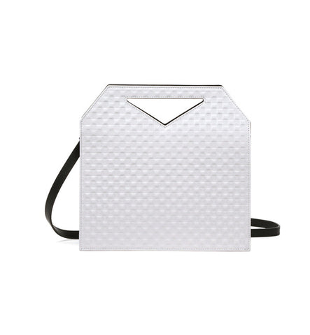IMAGO-A No.30 Light Grey + Black Triad Chequered Bag - Myth & Symbol - 1