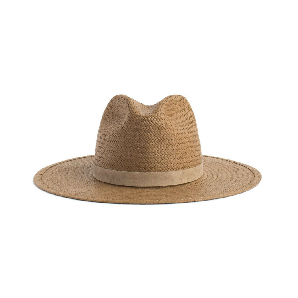 Janessa Leone Brown Adriana Packable Short Brimmed Fedora Hat