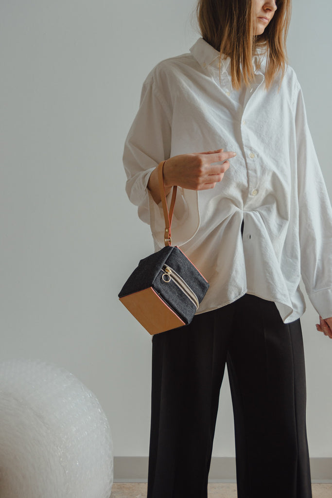 Julia Gabriel Denim Cube Bag - Myth & Symbol
