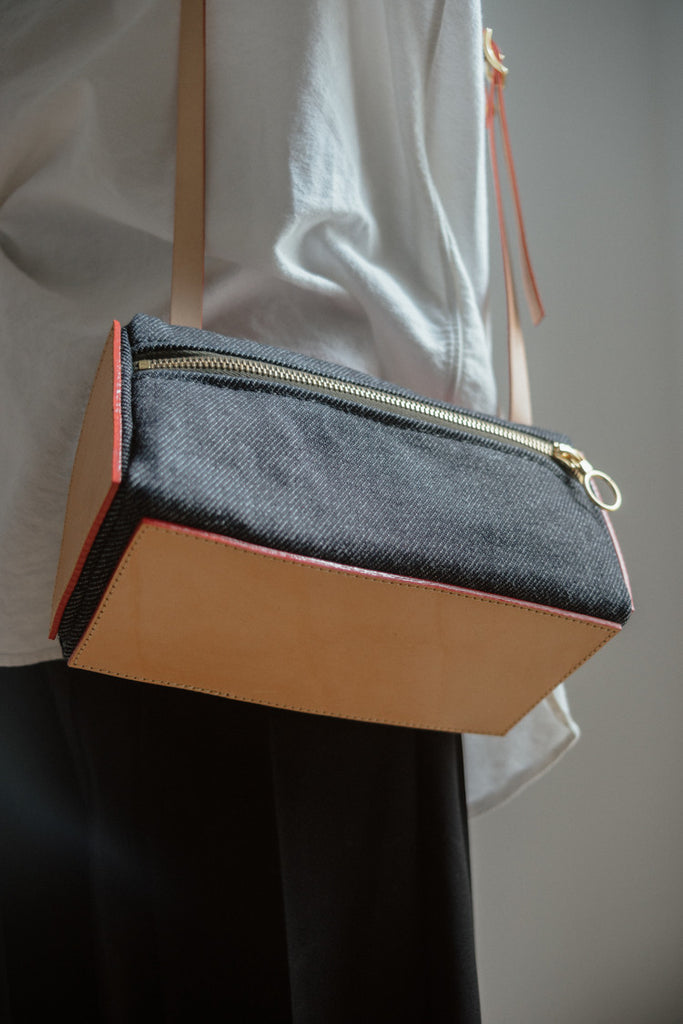 Julia Gabriel Denim Triangle Bag - Myth & Symbol
