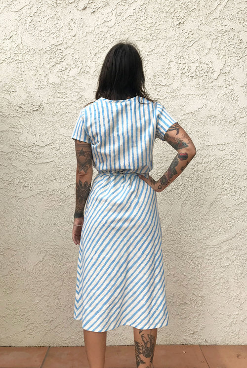PO-EM Horizon Blue Ode Dress
