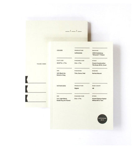 Print Prologue Letterpress Notebook Edition 1 - Myth & Symbol - 1