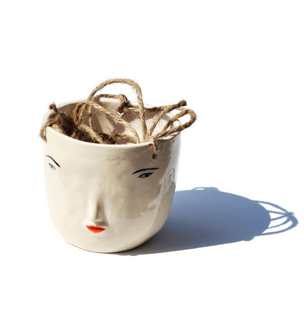Rami Kim Face Hanging Pot White - Myth & Symbol - 1