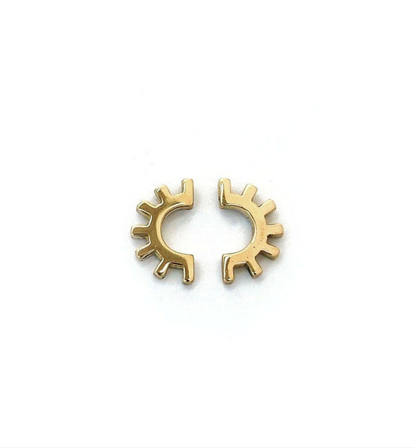 Tiro Tiro Brass Ojo Earrings - Myth & Symbol - 2