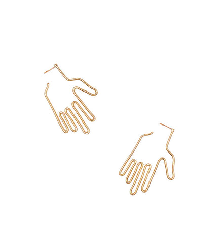 Young Frankk Gold Hand Earrings - Myth & Symbol - 1