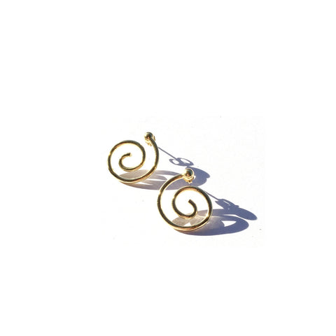 Young Frankk Gold Spiral Earrings