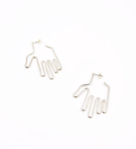 Young Frankk Silver Hand Earrings - Myth & Symbol - 1