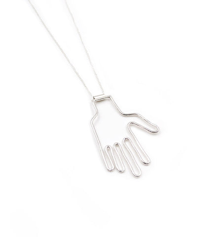 Young Frankk Silver Hand Necklace - Myth & Symbol - 1
