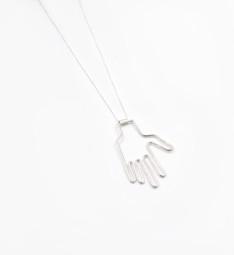 Young Frankk Silver Hand Necklace - Myth & Symbol - 2