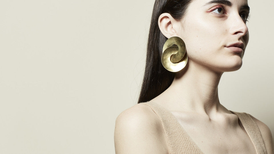 Fay Andrada Brass Pari Earrings - Myth & Symbol - 3