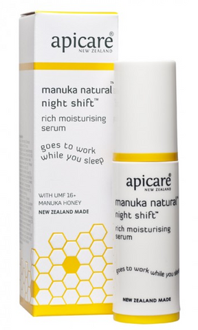 Apicare Manuka Natural Night Shift Rich Moisturising Serum 30g