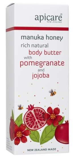 Apicare Manuka Honey Rich Natural Body Butter with Pomegranate 200g