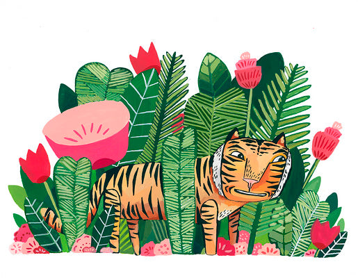 archival print - HOW MANY THINGS COULD ONE TIGER LOVE ABOUT THE JUNGLE