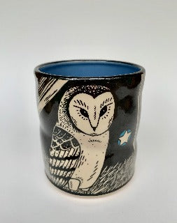 Large- Lucky Barn Owl cup