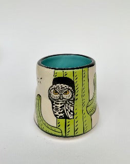 Small- Lucky Elf Owl cup