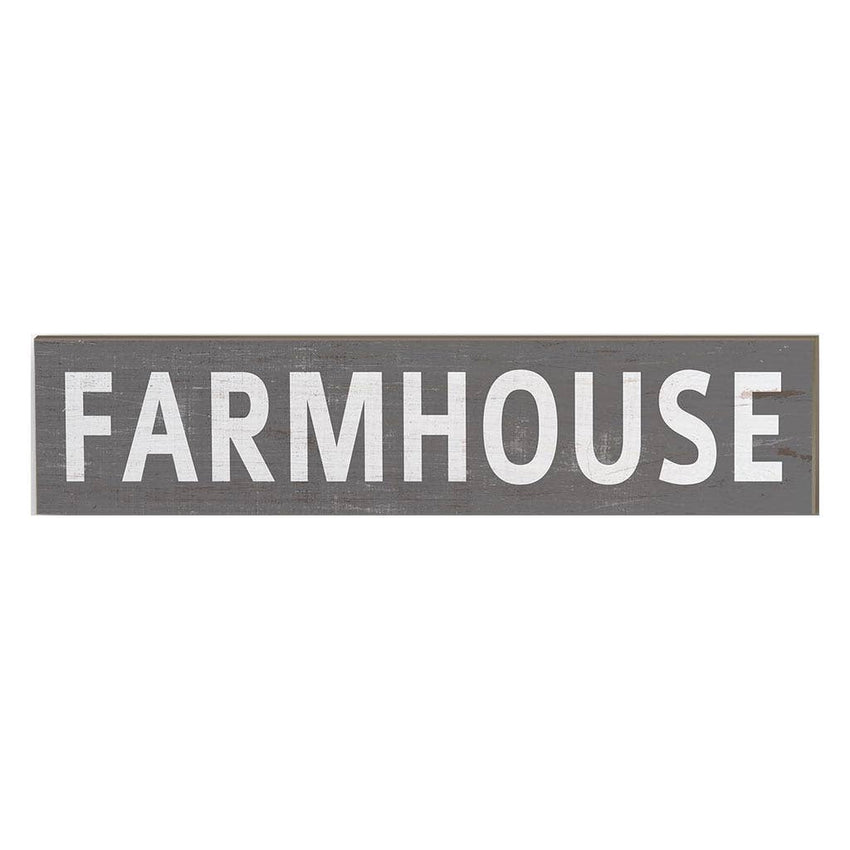 "3"" x 13"" Farm House Grey Plaque"