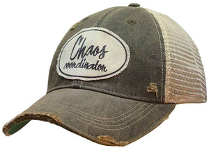 Chaos Coordinator Distressed Trucker Cap