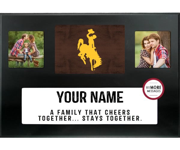 Personalized Family Frame with WY Cowboys