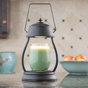 Black Hurricane Lantern Candle Warmer