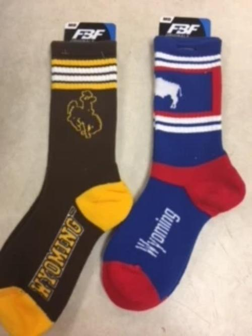 Wyoming Crew Socks