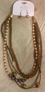 Brown Multilayer Necklace