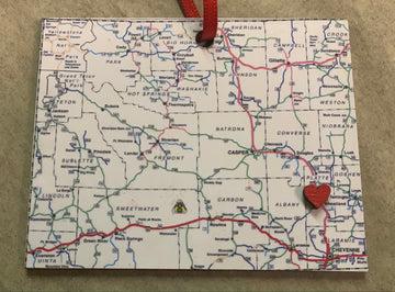 Wyoming State Map Ornament