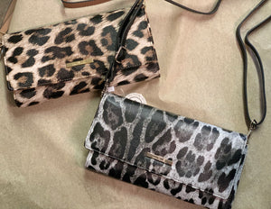 2 n 1 Animal Print Crossbody