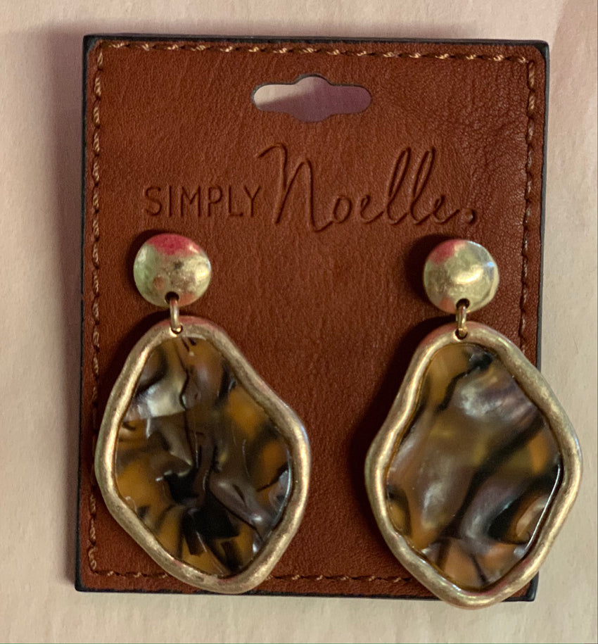 Noelle Gold Acrylic Earrings