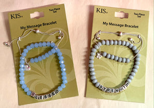 Blessed/Strength Bracelet 2 pc Set