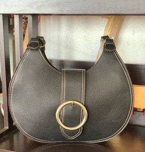 Noelle Buckle Hobo Bag