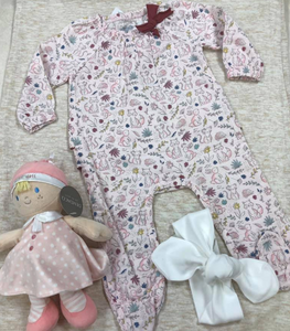 Pink muslin forest sleeper