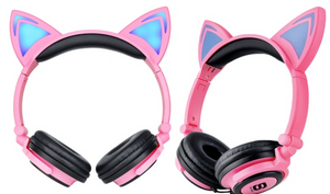 Light up cat headphones