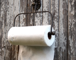 Rustic Metal Paper Towel Holder
