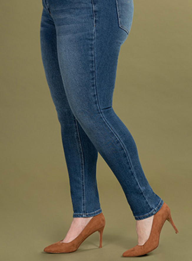 WOMEN PLUS SIZE VINTAGE DREAM HIGH-RISE DENIM SKINNY JEAN