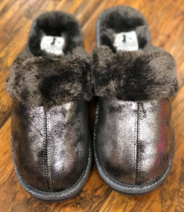 Corkys Pewter Hard Soled Slippers