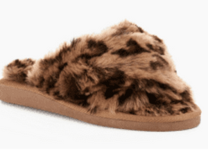 Corkys Leopard Print Slippers