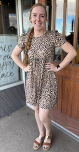 Babydoll Mini Leopard Dress